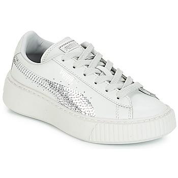 Zapatos Niña Zapatillas bajas Puma G PS B PLATFORM BLING.GRAY Gray