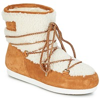 Zapatos Mujer Botas de nieve Moon Boot FAR SIDE LOW SHEARLING Cognac / Blanco