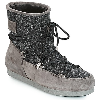 Zapatos Mujer Botas de nieve Moon Boot FAR SIDE LOW SUEDE GLITTER Negro / Gris