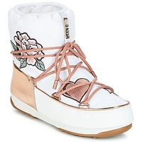 Zapatos Mujer Botas de nieve Moon Boot PEACE & LOVE WP Blanco / Rosa / Gold