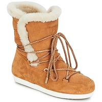 Zapatos Mujer Botas de nieve Moon Boot FAR SIDE HIGH SHEARLING Cognac / Blanco