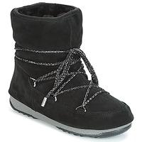Zapatos Mujer Botas de nieve Moon Boot LOW SUEDE WP Negro