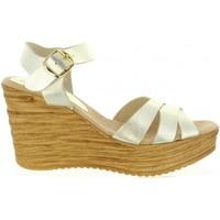 Zapatos Mujer Sandalias Cumbia 31001 Gold