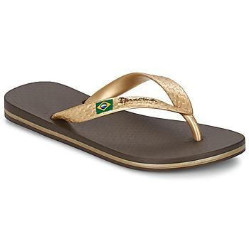 Zapatos Mujer Chanclas Ipanema CLASSICA BRASIL II Marrón / Oro