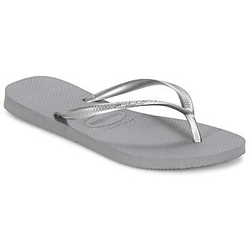Zapatos Mujer Chanclas Havaianas SLIM Gris / Acero