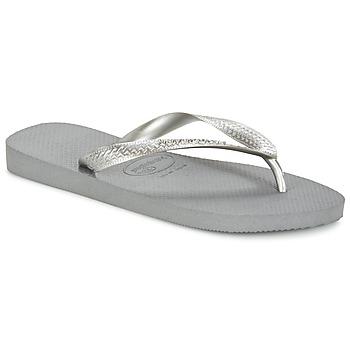 Zapatos Mujer Chanclas Havaianas TOP METALLIC Gris / Acero