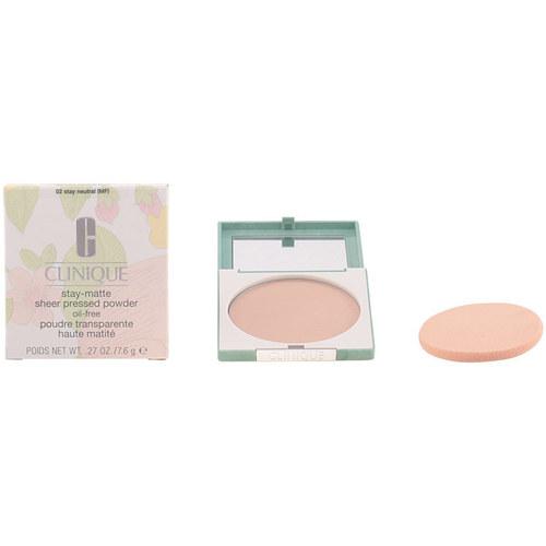 Belleza Mujer Base de maquillaje Clinique Stay Matte Sheer Powder 02-stay Neutral 7.6 Gr 7,6 g