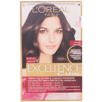 Belleza Tratamiento capilar L'oréal Excellence Creme Tinte 3 Castaño Oscuro 1 u