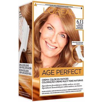 Belleza Coloración L'oréal Excellence Age Perfect Tinte 6,13 Castaño Claro Frío Dorado 1