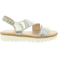 Zapatos Mujer Sandalias Chika 10 IDOIA 01 Plateado