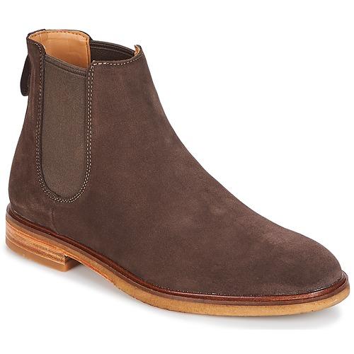 Zapatos especiales para hombres y mujeres Clarks / CLARKDALE Dark / Brown / Clarks Aterciopleado 9173c7