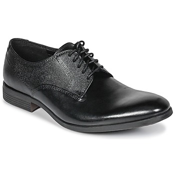 Zapatos Hombre Derbie Clarks GILMORE Negro / Leather