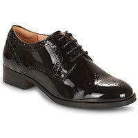 Zapatos Mujer Derbie Clarks NETLEY Negro / Pasto