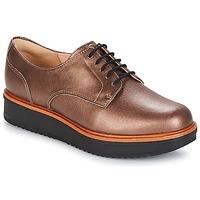 Zapatos Mujer Derbie Clarks TEADALE Dark / Tan / Lea