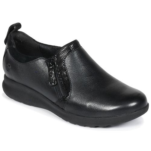 Zapatos Mujer Derbie Clarks Un Adorn Zip Negro / Combi