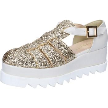 Zapatos Mujer Sandalias Olga Rubini sandalias platino glitter cuero BY337 otros