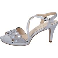 Zapatos Mujer Sandalias Olga Rubini sandalias gris charol gamuza BY358 gris