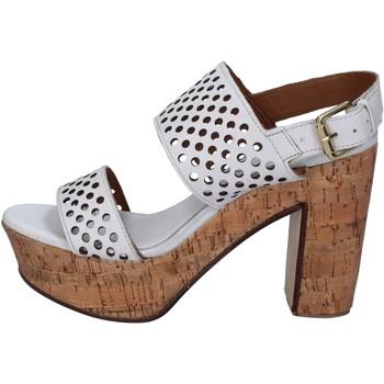 Zapatos Mujer Sandalias Shocks sandalias blanco cuero BY394 blanco