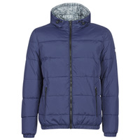 textil Hombre Plumas Tommy Hilfiger REVERSIBLE HOODED BOMBER Marino / Reversible / Chevron / Gris