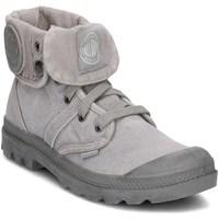 Zapatos Mujer Zapatillas altas Palladium Manufacture Pallabrouse Baggy Grises