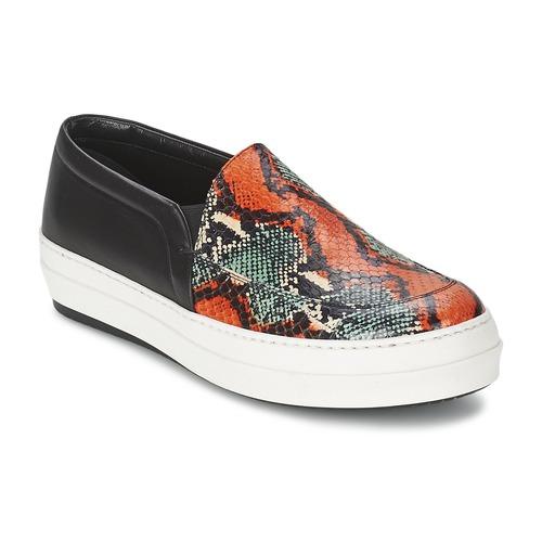Zapatos Mujer Slip on McQ Alexander McQueen DAZE Negro / Multicolor