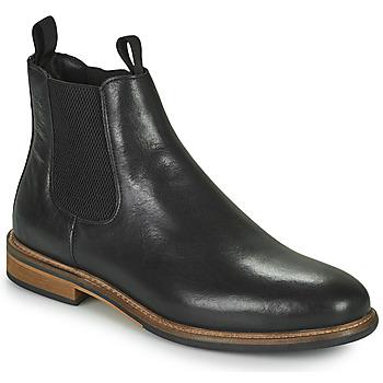 Zapatos Hombre Botas de caña baja Schmoove PILOT CHELSEA Negro