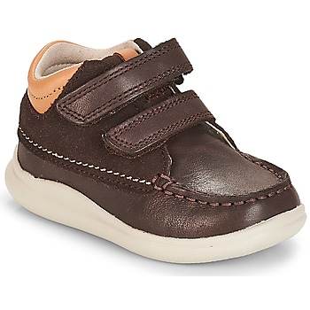 Zapatos Niño Zapatillas altas Clarks Cloud Tuktu Brown / Combi / Lea