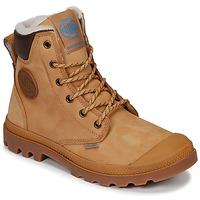 Zapatos Botas de caña baja Palladium PAMPA SPORT CUFF WPS Amarillo / Marrón