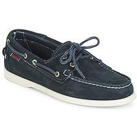 Zapatos Hombre Zapatos náuticos Sebago DOCKSIDES SUEDE Marino