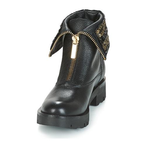 Kiruna Botas Tosca Caña Baja De Zapatos Blu Negro Mujer lK1c3FTJ