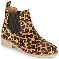 Zapatos Mujer Botas de caña baja Bensimon BOOTS CREPE Leopardo