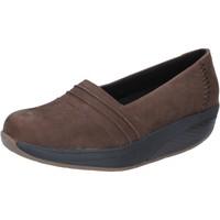 Zapatos Mujer Mocasín Mbt slip on mocasines marrón nobuck performance BY686 marrón
