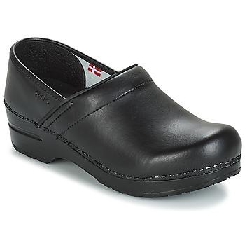 Zapatos Zuecos (Clogs) Sanita PROF Negro