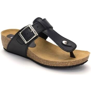 Zapatos Mujer Sandalias Morxiva Shoes Sandalias de piel con tacón de mujer by Morxiva Negro