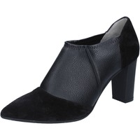 Zapatos Mujer Botines Le Marrine botines negro cuero gamuza BY732 negro