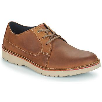 Zapatos Hombre Derbie Clarks VARGO PLAIN Marrón