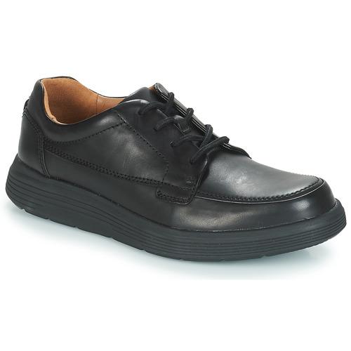 Zapatos Hombre Derbie Clarks UN ABODE EASE Negro