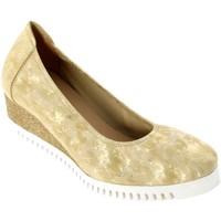 Zapatos Mujer Bailarinas-manoletinas Sabrinas Montréal 82004 cuero platino