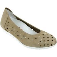 Zapatos Mujer Bailarinas-manoletinas Sabrinas Bruselas 85005 Nobuck gris pardo
