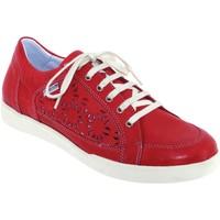 Zapatos Mujer Zapatillas bajas Mephisto Daniele perf Cuero rojo