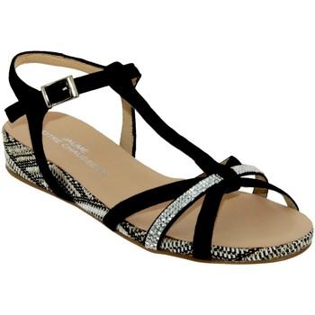 Zapatos Mujer Sandalias Brenda Zaro F2719 Terciopelo negro