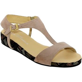 Zapatos Mujer Sandalias Brenda Zaro F2772 Terciopelo rosa beige