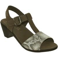Zapatos Mujer Sandalias Mephisto Carine Nobuck gris pardo