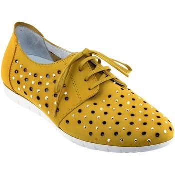 Zapatos Mujer Derbie Sabrinas Bruselas 85006 Amarillo nobuck