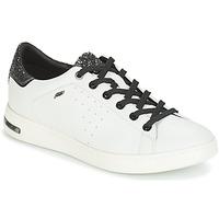 Zapatos Mujer Zapatillas bajas Geox JAYSEN Blanco / Plata