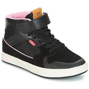 Zapatos Niña Zapatillas altas Kickers GREADY MID CDT Negro / Rosa