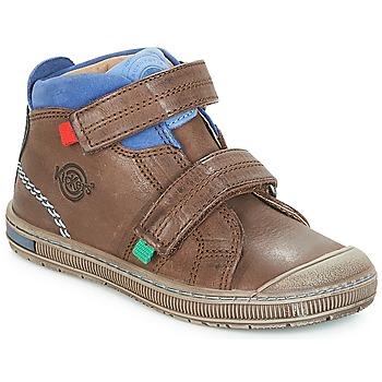 Zapatos Niño Zapatillas altas Kickers IGUTO Marrón