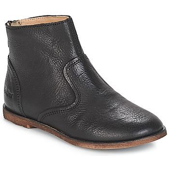 Zapatos Niña Botas urbanas Kickers ROXANNA Negro