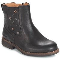 Zapatos Niña Botas urbanas Kickers SMAD Negro