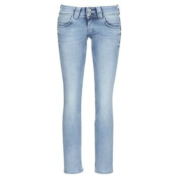 textil Mujer vaqueros rectos Pepe jeans VENUS Azul / Claro